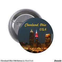 Cleveland Ohio USA Button