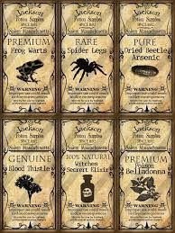 Image result for dollhouse halloween potion label