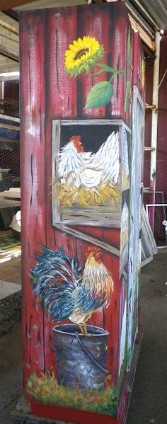 SUSAN WYMOLA ART AND MUSINGS: PORTFOLIO This Chicken Pantry/once Armoire