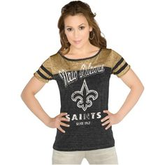 New Orleans Saints All Time Great T-Shirt - Old Gold