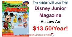 HOW FUN! Grab Disney Junior Magazine for as low as $13.50/year! Won't the little ones love the stories and activities? And you will love saving over $45 off the cover price!  Click the link below to get all of the details ► http://www.thecouponingcouple.com/disney-junior-magazine/ #Coupons #Couponing #CouponCommunity  Visit us at http://www.thecouponingcouple.com for more great posts!