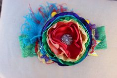 Baby Girl HeadbandCircus HeadbandRainbow by AvryCoutureCreations, $27.95