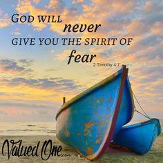 He will never give u the spirit of fear 💌 Faith Scripture, Faith Prayer, Bible Verses Quotes, Faith In God, Bible Scriptures, Faith Quotes, Spirit Of Fear, Encouragement, Favorite Bible Verses