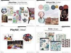 The Ultimate Spring/Summer 2017 Collection - 5 X Print Trend Report Bundle… Color Trends, Design Trends, Stationery Printing, Mood And Tone, Spring Summer Trends, Textile Design, Design Art, Repeating Patterns, Interiores Design