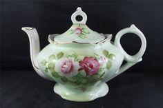 ... about Vintage Blooming Rose Gilt Porcelain Windup Musical Teapot