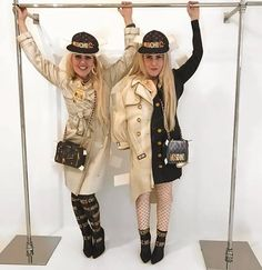 Cailli and Sam from Beckerman Blog wearing Moschino S/S17 for the Jeremy Scott fashion show in New York! #NYFW - www.moschino.com