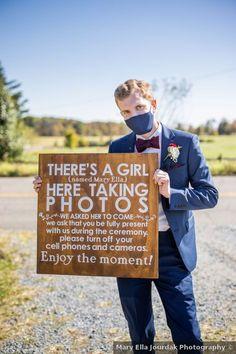 Wooden unplugged wedding sign, unplugged wedding ideas Wedding In The Woods, Farm Wedding, Rustic Wedding, Spencer Iowa, Unplugged Wedding Sign, Wedding Inspiration, Wedding Ideas, Signature Cocktail, Wedding Signage