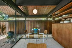 Mid Century Home in California by Roger Lee - dining area