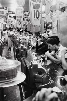 Robert Frank, Drug store, Detroit 1955 - this reminds me of passages in Kerouac's Visions of Cody