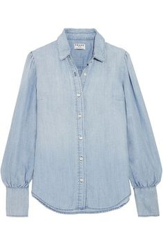 ef8de47337 https   www.net-a-porter.com gb en product 802877 FRAME feminine-gathered-chambray- shirt · Blue BlouseDenim ...