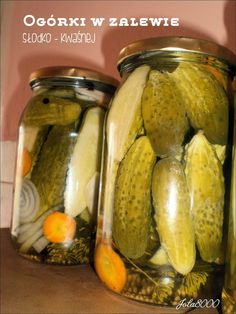 Home Canning, Polish Recipes, Canning Recipes, Preserves, Pickles, Cucumber, Salads, Recipies, Food And Drink