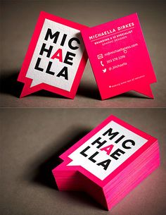 Bright Neon Business Cards | Business Cards | The Design Inspiration