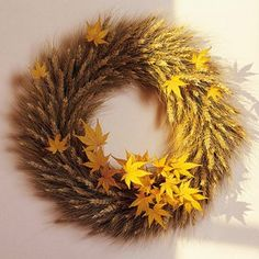 Fall wreath... Anyone have a wheat field I could use.lol
