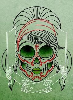 I didn't even know where to pin this, because it would be awesome hung in my house, rad as a tattoo, but I guess the basic idea is hair.