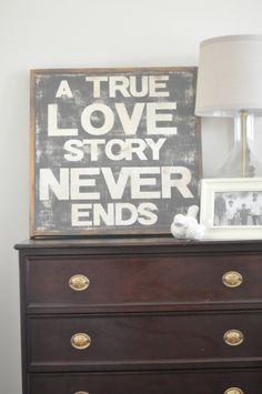 Love Story Sign by BetweenYouAndMeSigns on Etsy, $100.00