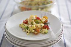 Shrimp w/ Corn, Cherry Tomatoes & Avocado