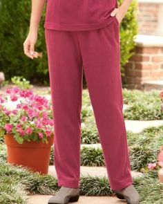 UltraSofts by National Fleece Pull-On Pant, Wine, Large UltraSofts by National. $14.95 Formal Pants Women, Pants For Women, Pull On Pants, Women Accessories, Pajama Pants, Jumpsuit, Casual, Wine, Clothes