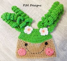 Crochet Lala Loopsy Style Baby Hat by PeggyJHaleDesigns on Etsy,