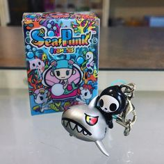 Tokidoki Sea Punk Frenzies have just released and thy pack a mean addition to your keychain collection! Just how sweet is this Adios riding a shark?!  . . #mindzai #newarrivals #tokidoki #seapunk #frenzies #vinyltoy #keychain #kawaii #simonelegno #designertoy #designer #toy #markham #toronto