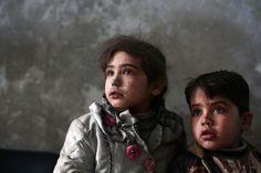 Des enfants syriens dans la ville de Douma