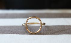 Full Circle Ring//14kt Gold filled//Handcrafted by BruteBeauti, $28.00