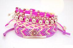 add beads to friendship bracelets