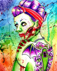 Zombie rockabilly art. Love it