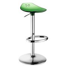 FROG UP. Disponibile nella verione con sedile trasparente: trasparente, arancio, rosso, verde, fumé, oppure nella versione con sedile in policarbonato pieno: bianco. Il policarbonato utilizzato è Makrolon® di Bayer MaterialScience. Prodotto in Italia da Scab Design.
