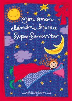 """""""SuperSankaritar"""" A4-kokoinen sähköstaattinen juliste Finnish Words, Jrr Tolkien, Finland, Mythology, Poems, Language, Thoughts, Life, Poetry"""