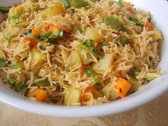 vegetable vermicelli biryani - it was ok, not quite what I was expecting  (trash)