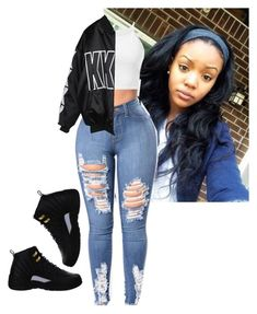 """"""""""" by babygirlmeeky on Polyvore featuring NIKE, Parisian and StyleNanda"""