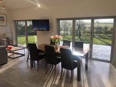 Sunny morning views through our Visofold 1000 bi-fold doors.