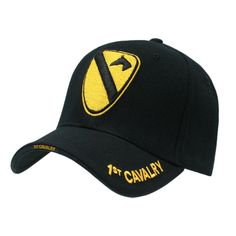 United States Us Army 1St Cavalry Black Cap Caps Hat