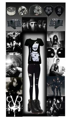 """Black Veil Brides"" by scene-bean ❤ liked on Polyvore featuring Miss Selfridge and Funk Plus"