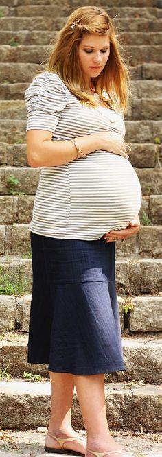 Cute Denim Maternity Skirt Below the knee by JenZapp on Etsy,  42.00  Enfant, Mode 6164ecd7284