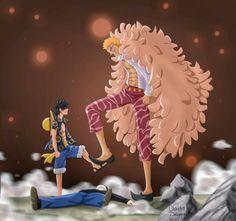 Doflamingo and Luffy