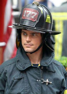 HOT firefighter Matt Bomer