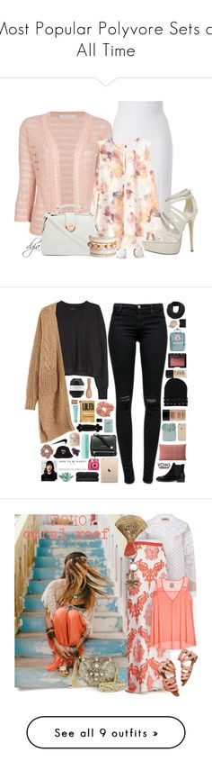 """Most Popular Polyvore Sets of All Time"" by polyvore ❤ liked on Polyvore featuring polyversary, L'Wren Scott, Kristina Ti, Rebecca Taylor, ALDO, Kate Spade, NARS Cosmetics, Isabel Marant, J Brand and Dorothy Perkins"