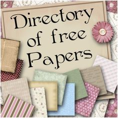 Tons of Free Scrap paper, Templates, Printables Kits & Tutorials & so much More. Great Resource !
