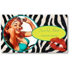 Shop The Kitsch Bitsch : Glam-A-Zon Business Card created by kitschbitsch. Fashion Business Cards, Artist Business Cards, Beauty Logo, Kitsch, Pin Up, Things To Come, Make Up, Prints, Card Templates