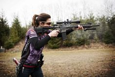 @30calgal Rocking a @rainierarms RUC RIfle.