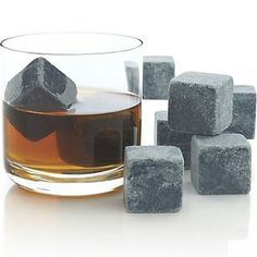 Crate and Barrel -- Set of 8 Large Whiskey Rocks