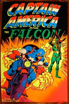 marvel third eye poster blacklight captain america falcon via Cool & Collected