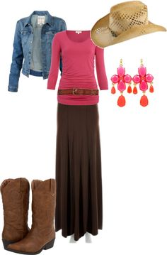 """""""let's go to the rodeo"""" by spf13 ❤ liked on Polyvore"""