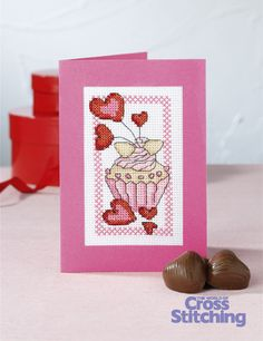 Cupcake of the Month - cross stitch pattern by The World of Cross Stitching, in our new-look issue 199