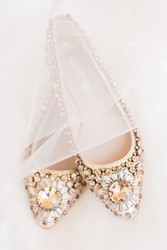 Bejeweled wedding flats