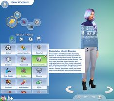 Mod The Sims: Dissociative Identity Disorder Trait by piebaldfawn • Sims 4 Downloads