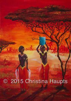 Afrika, Wasserträgerinnen