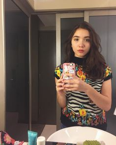 """172.2k Likes, 3,048 Comments - Rowan Blanchard (@rowanblanchard) on Instagram: """"Took today still in kind of a weird shock about Bowie. But wore this shirt and green eyeshadow kind…"""""""