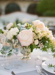 delicate peony arrangement by Flowerwild